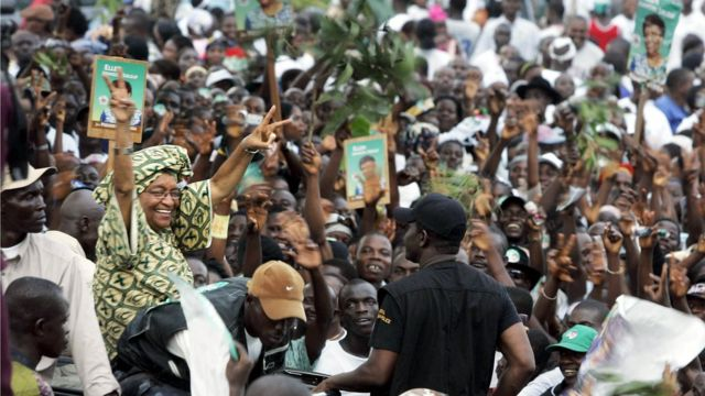 Ellen Johnson Sirleaf, présidente du Libéria de 2006 à 2018