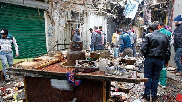 انفجار في سوق السنك ببغداد