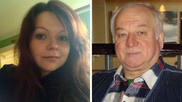 66-летний Сергей Скрипаль и его 33-летняя дочь Юлия