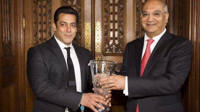 سلمان خان کیتھ ویز کے ساتھ
