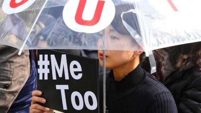 Protesta Metoo en Corea del Sur.