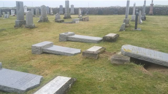 Council's apology over flattened headstones in Orkney