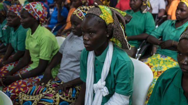 Chibok girls wey dem just release sidon dey wait