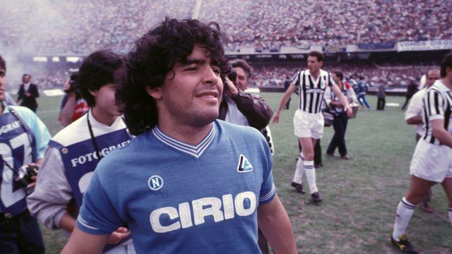 Maradona gioca contro la Juventus