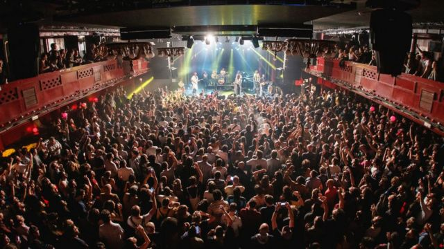 Concert at Sala Apolo in Barcelona before the pandemic, November 2019