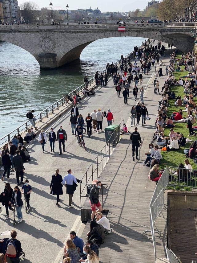 Parisian along the Seine
