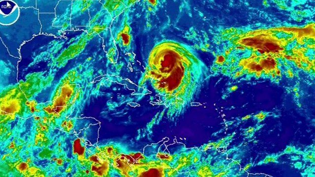 Satellite image of storm