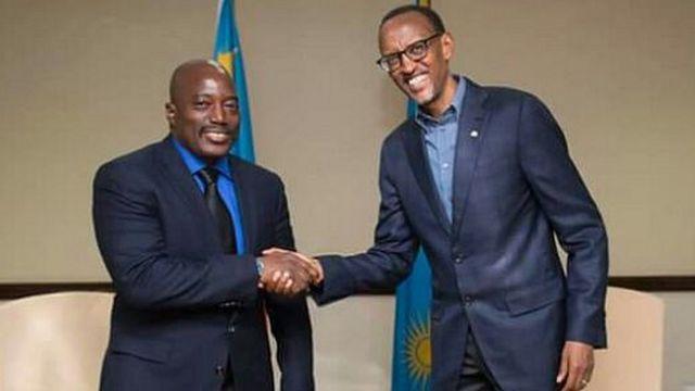 Perezida Kabila na Perezida Kagame