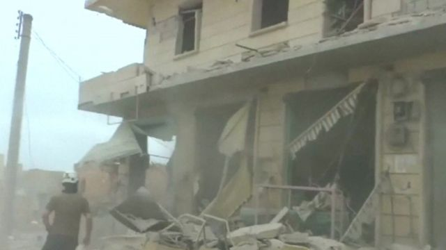 Destroyed building in Aleppo