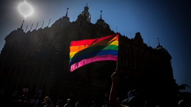 Bandera gay en Sudáfrica.