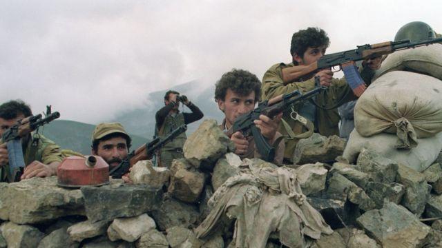 Армянские военные во время конфликта. 1992 год
