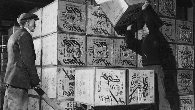 Transporte de cajas de té
