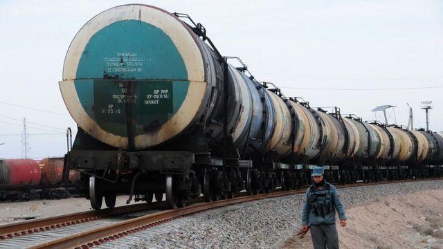 Железнодорожные пути в Хайратоне