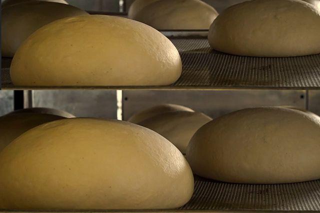 Diferencia de tamaño de la masa del pan