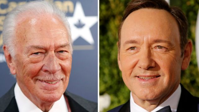 Christopher Plummer (izq) y Kevin Spacey