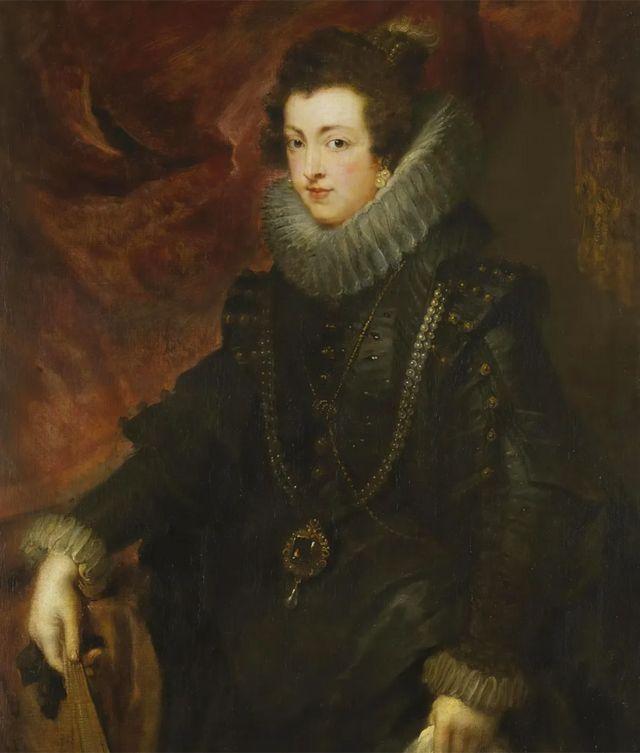 Retrato de Isabel de Borbón (1628-9) pintado por Peter Paul Rubens