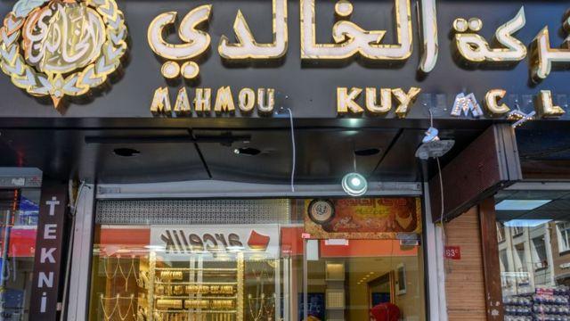 Suriyelilerin işlettiği bir kuyumcu dükkanı
