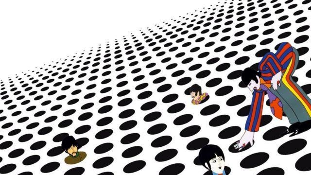 Вдохновением для визуального ряда фильма нередко служили образы из песен Битлз. В данном случае - песни Fixing a Hole