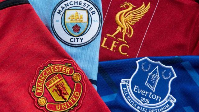 شعارات فرق مانشستر يونايتد، مانشستر سيتي، ليفربول وإيفرتون