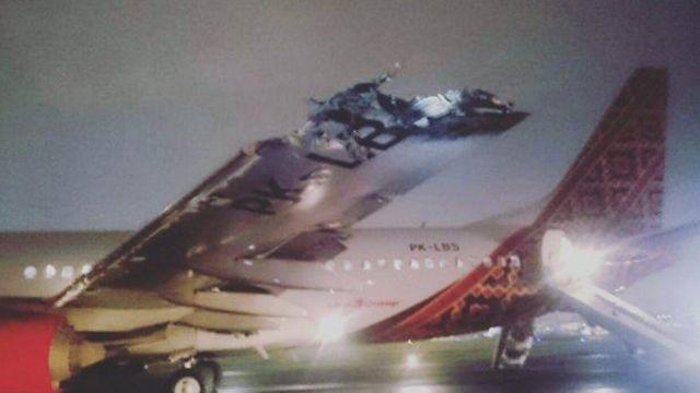 衝突したバティック・エア機