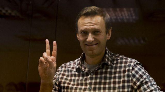 Алексей Навальный в московском суде 20.02.21