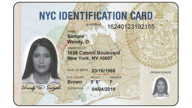 Carnet de identidad municipal de Nueva York.