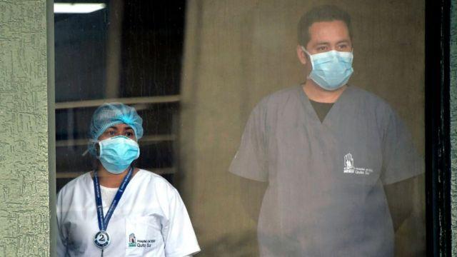 عامل في مستشفى إكوادور