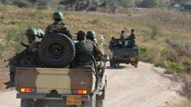 Des éléments de l'armée camerounaise lors d'une patrouille