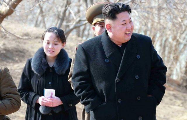 Kim Jong-un e sua irmã