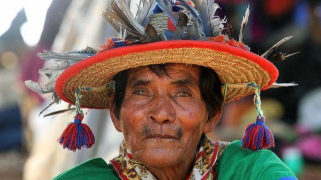 Miembro de la comunidad Waxaritari, en México.