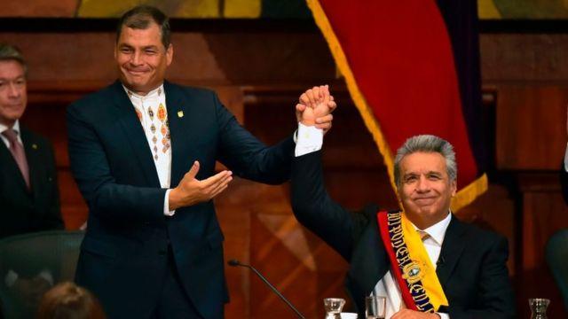 Rafael Correa y Lenín Moreno.