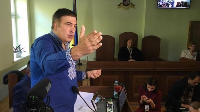 Міхеіл Саакашвілі у суді