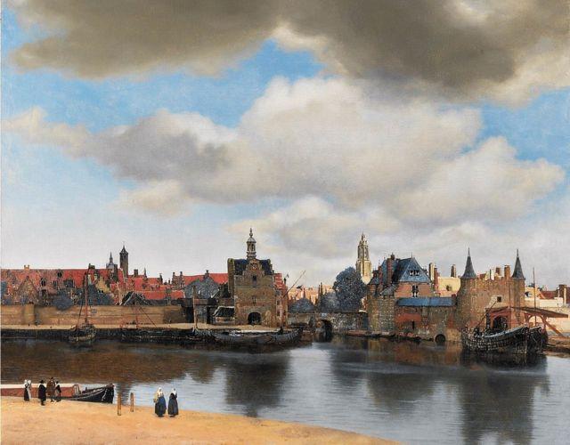 'Vista de Delft', de autoria de Vermeer