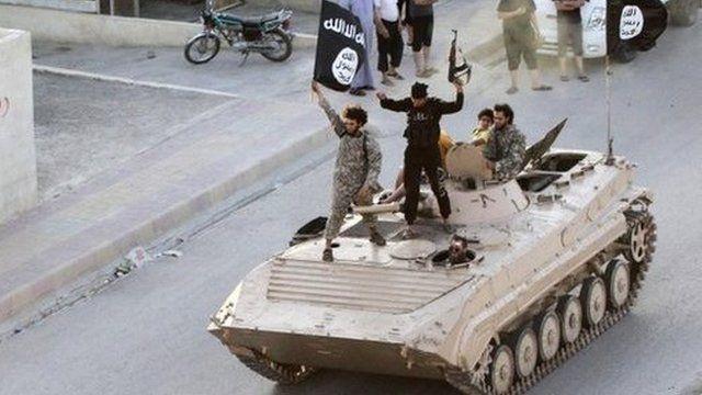 Integrantes do Isis em Raqqa