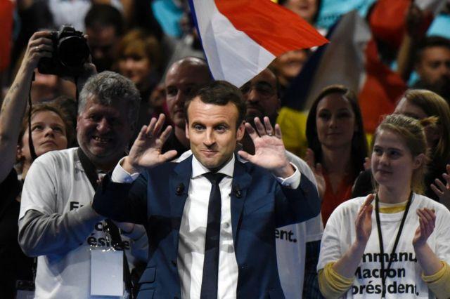 Emmanuel Macron in Lyon, 4 February