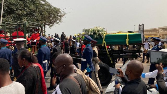 Jerry John Rawlings funeral: Black Star square, military cemetery Accra