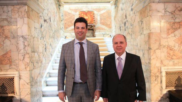 Ministro do Esporte almoçou com embaixador brasileiro em Londres, Eduardo dos Santos