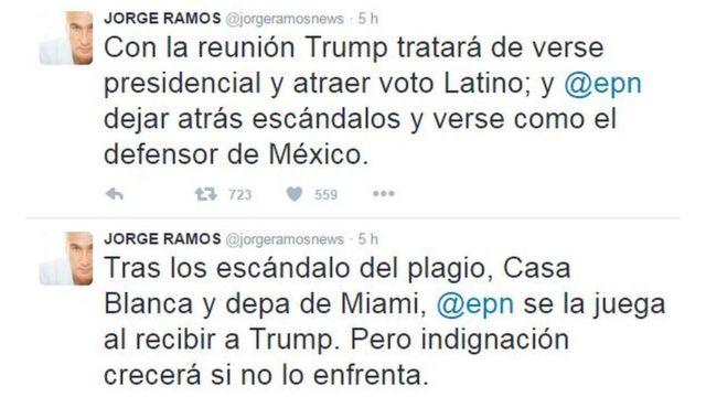 Tuit de Jorge Ramos