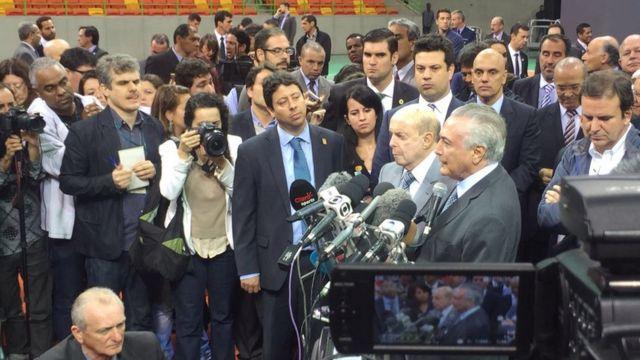 Michel Temer no Rio de Janeiro
