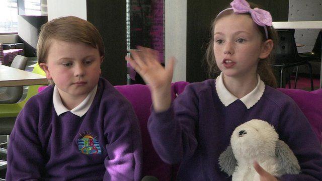 pupils send their message to Sam