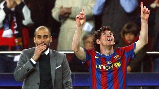 Messi and Pep