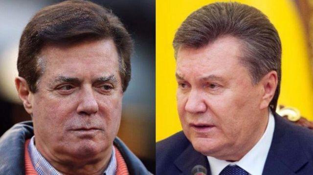 З 2007 по 2012 рік політтехнолог Пол Манафорт (ліворуч) міг отримати від регіоналів на чолі із екс-президентом Віктором Януковичем (праворуч) 12,7 млн доларів