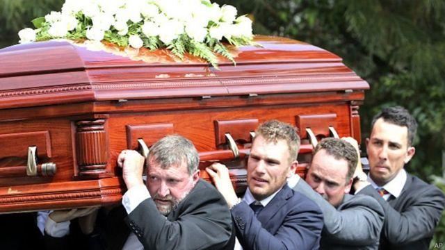 फ़िलिप ह्यूज का अंतिम संस्कार