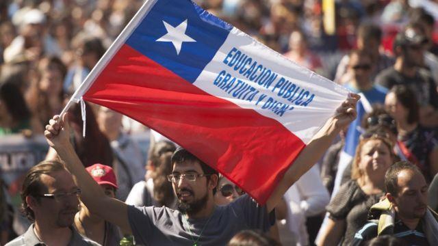 Hombre con bandera