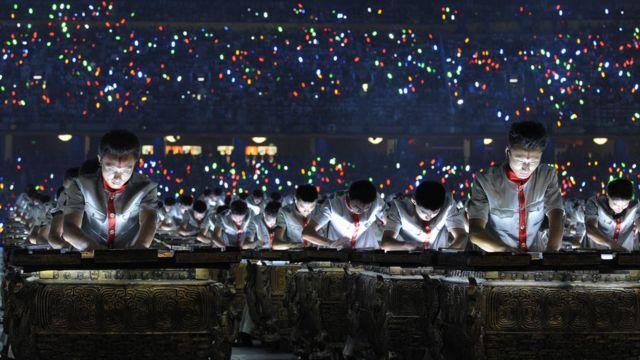 Abertura dos Jogos Olímpicos de Beijing em 2008