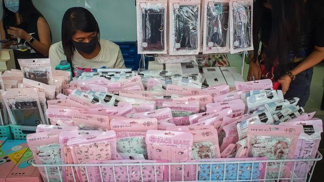 Медицинские маски в магазине а Бангкоке