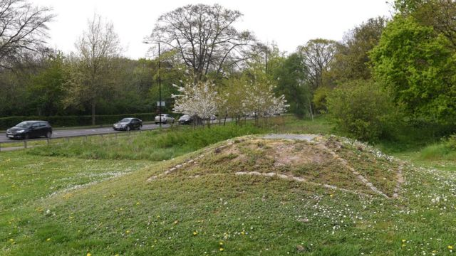 El lugar donde fue hallada la tumba.