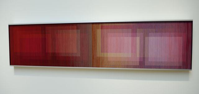 """""""Fisicromía Número 321-A"""", de Carlos Cruz-Diez en Nueva York en 2010."""