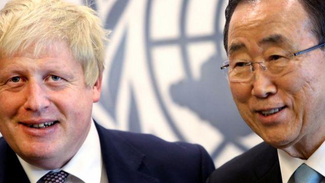 Джонсон встретился и с генеральным секретарем ООН Пан Ги Муном