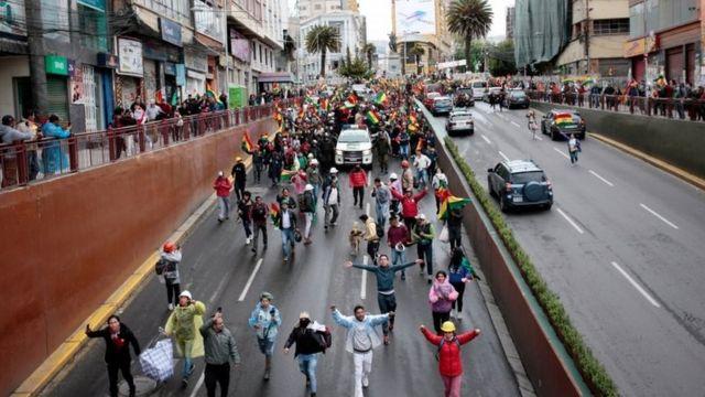 Una protesta en La Paz